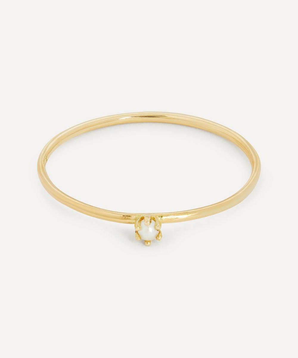 Satomi Kawakita - Gold Baby Pearl Ring