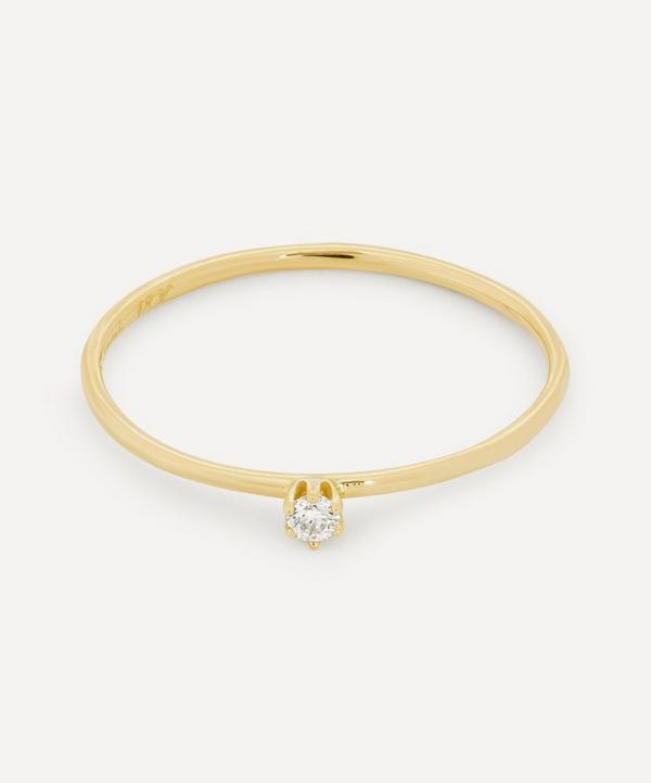 Satomi Kawakita - Gold Baby White Diamond Ring