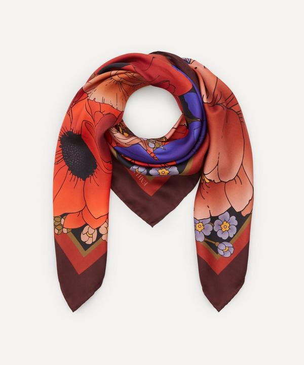 Emily Carter - The Winter Floral Silk Scarf