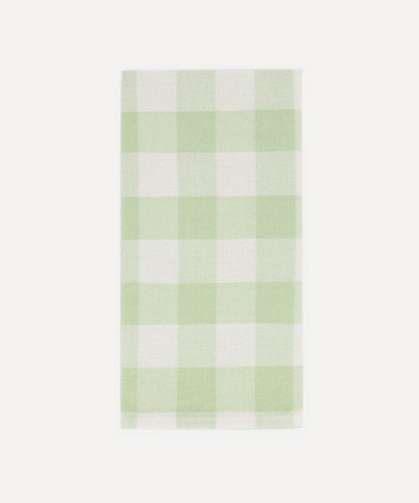 Heather Taylor Home - Honeydew Gingham Cotton Napkins Set of Four