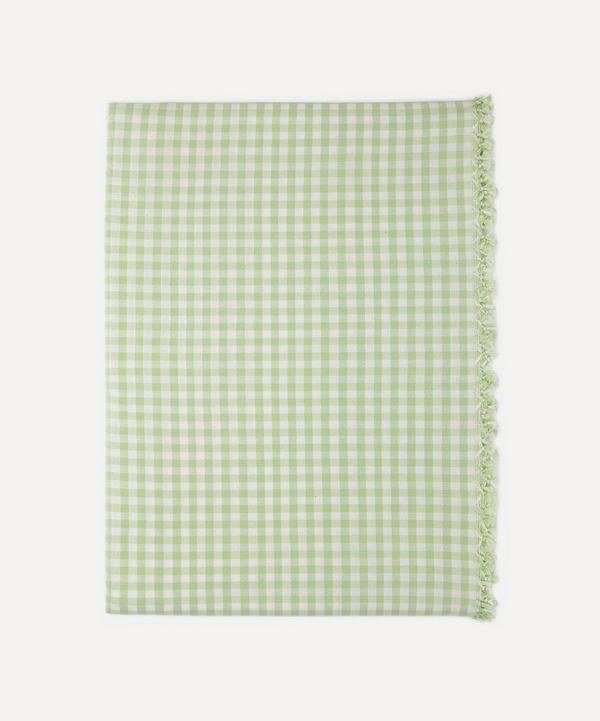 Heather Taylor Home - Honeydew Gingham Cotton Tablecloth