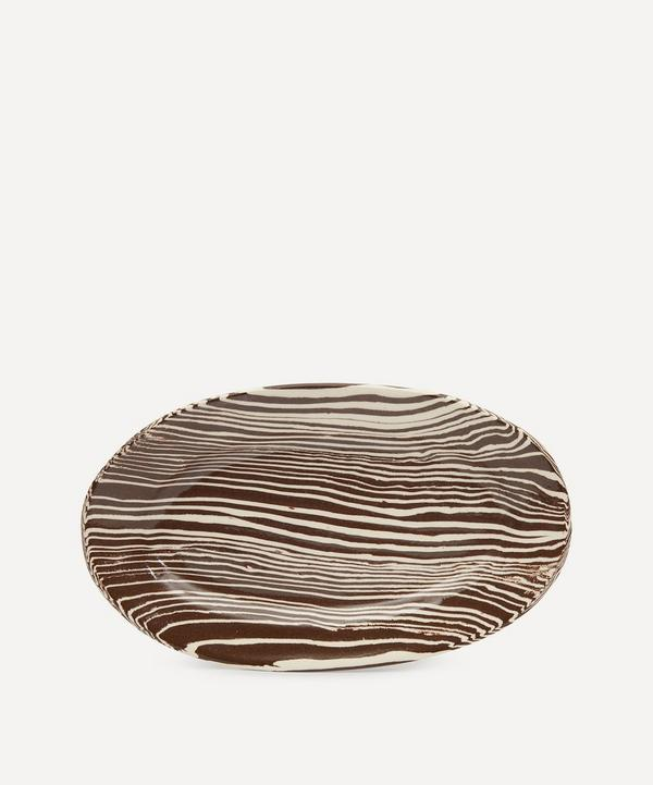 Henry Holland Studio - Brown and White Small Serving Platter