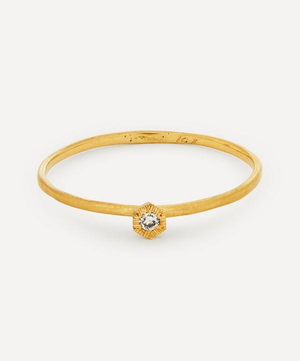 Satomi Kawakita - Gold Baby Brown Diamond Hexagon Ring