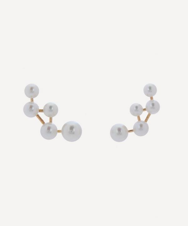 Satomi Kawakita - Gold Cassiopeia Pearl Earrings