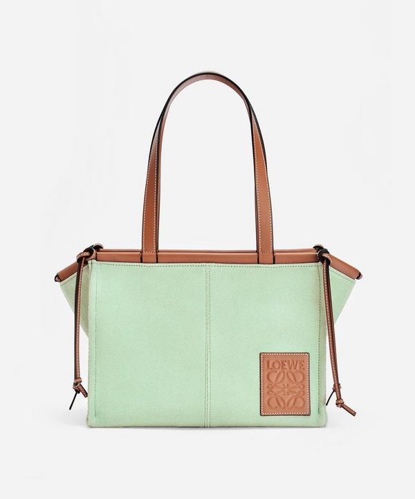 Loewe - Small Cushion Canvas and Leather Tote Bag