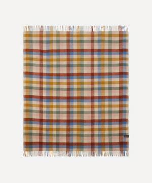 Rainbow Check Recycled Wool Blanket