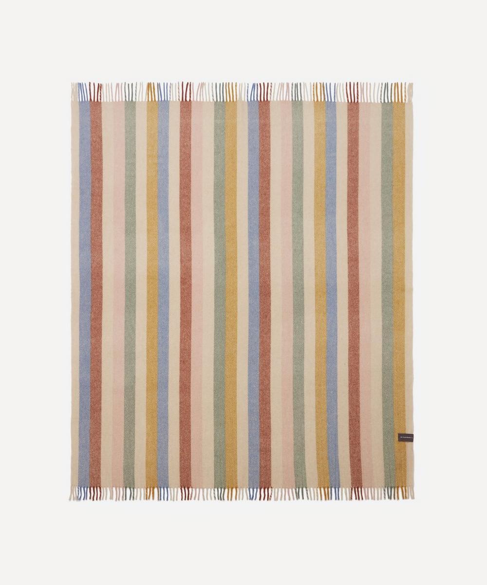 The Tartan Blanket Co. - Rainbow Stripe Recycled Wool Blanket