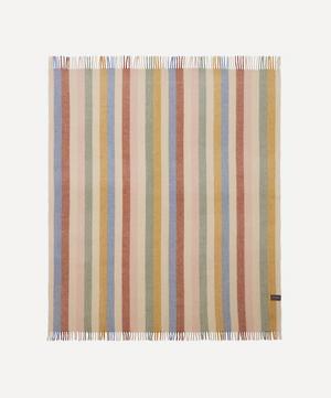 Rainbow Stripe Recycled Wool Blanket