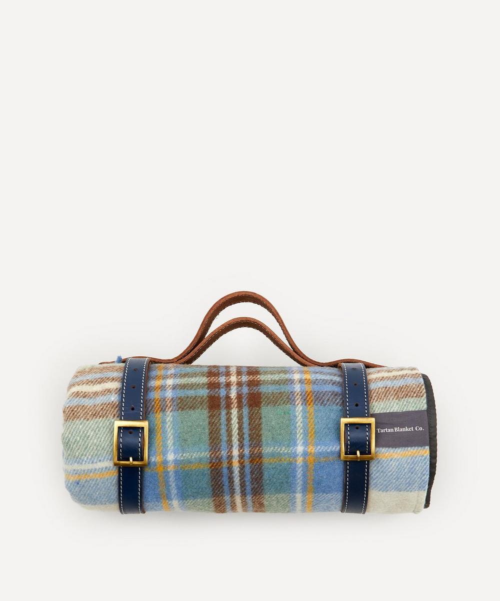 The Tartan Blanket Co. - Stewart Tartan Recycled Wool Picnic Blanket