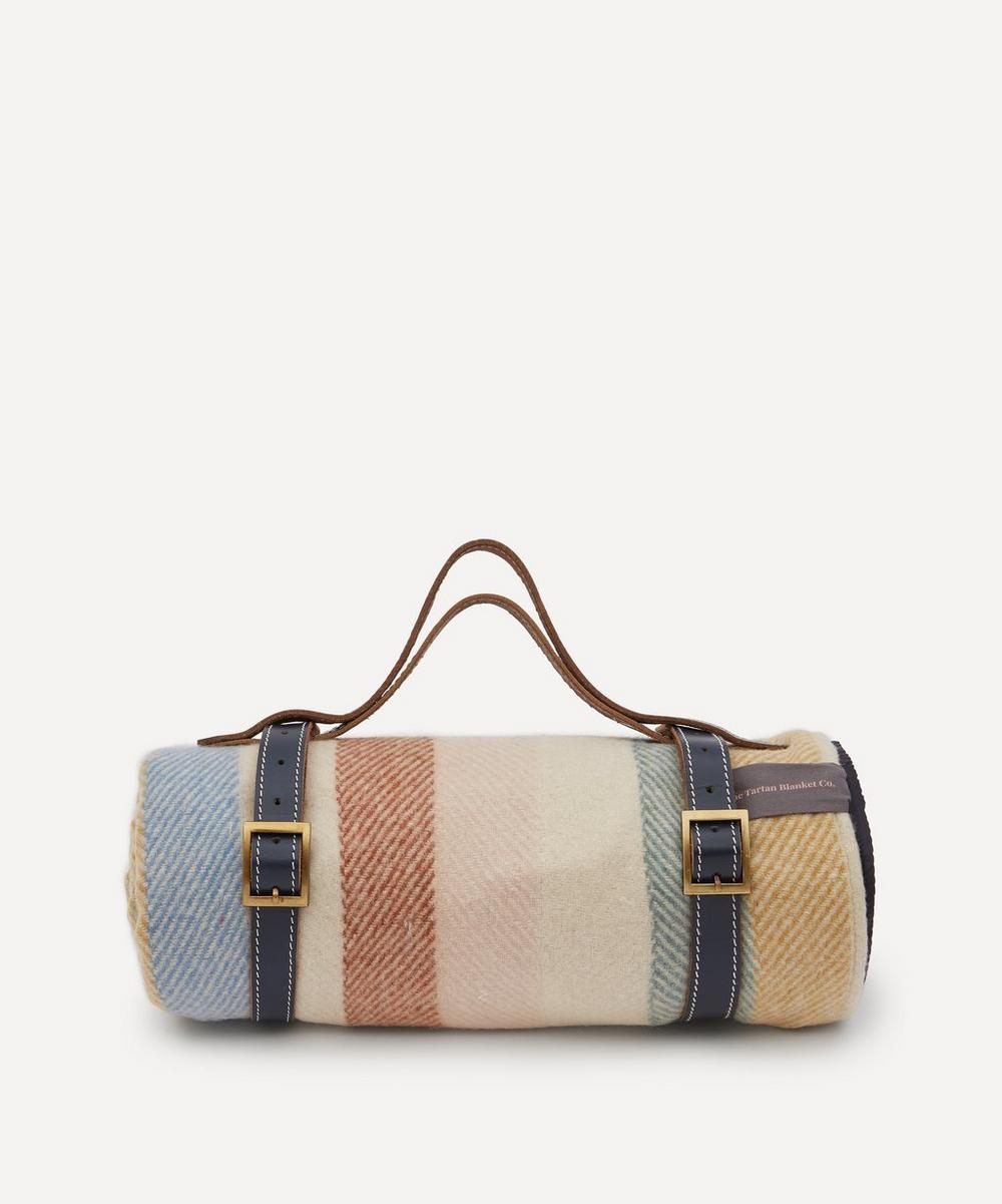 The Tartan Blanket Co. - Rainbow Stripe Recycled Wool Picnic Blanket