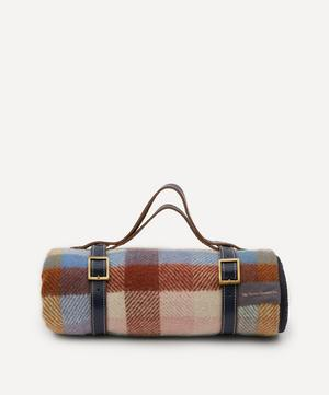 Rainbow Check Recycled Wool Picnic Blanket