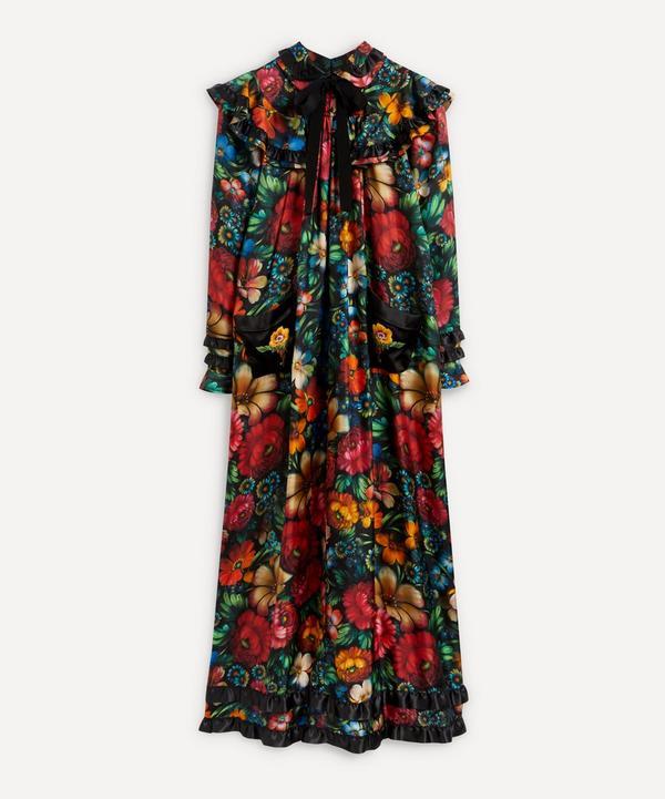 Designer Vintage - Gucci 2017 Cruise Collection Silk Floral Print Maxi-Dress