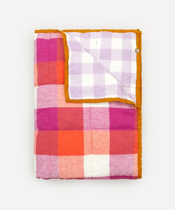 Society of Wanderers - Sherbet and Lilac Gingham Double Sided Standard Quilt