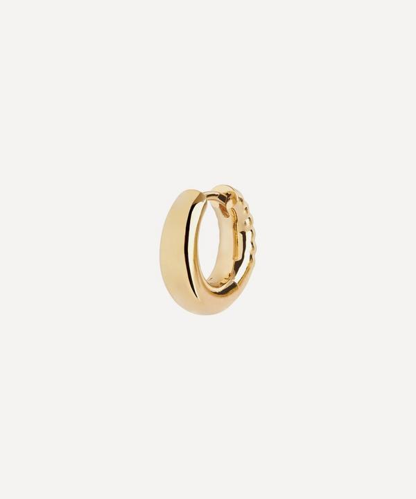 Maria Black - Gold-Plated Laid Back 8 Single Huggie Hoop Earring
