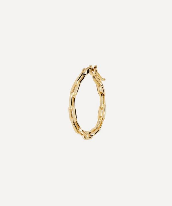 Maria Black - Gold-Plated Gemma 15 Single Chain Hoop Earring