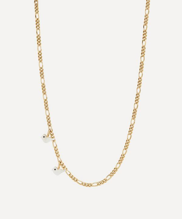 Maria Black - Gold-Plated Laylow Mother of Pearl Tweet Charm Necklace