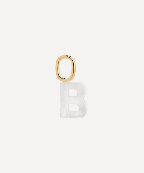 Maria Black - Gold-Plated Lucid Mother of Pearl Letter B Charm