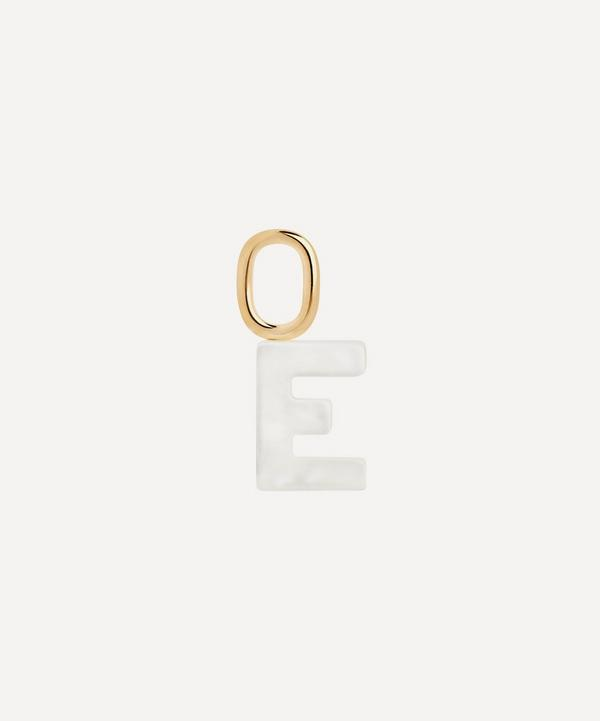 Maria Black - Gold-Plated Lucid Mother of Pearl Letter E Charm