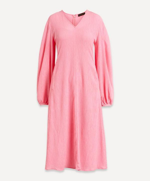 Stine Goya - Rosen Crinkle Flare Midi-Dress