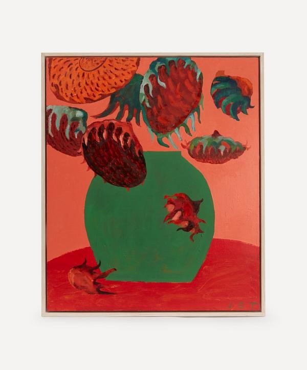 Jack Tierney - Strawberry Sunflowers Original Framed Painting