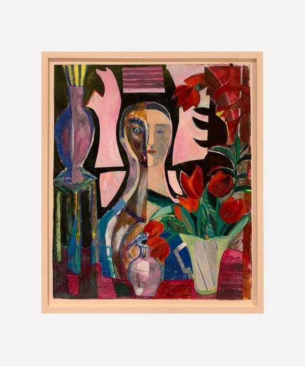 Naomi Munuo - Portrait with Tulips 2017 Original Framed Artwork