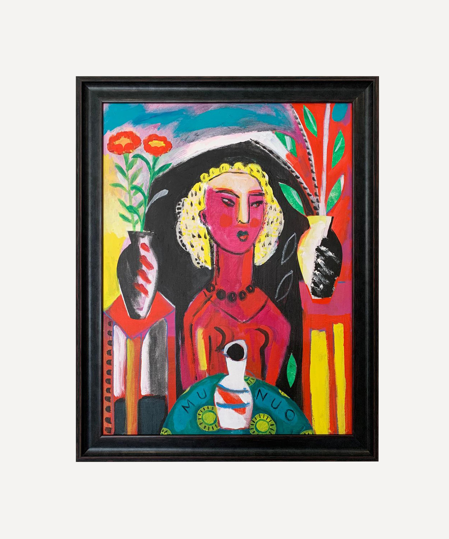 Naomi Munuo Flora 2021 Original Framed Artwork In Multi