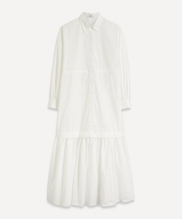 CO - Ruched Sleeve Tie Dress