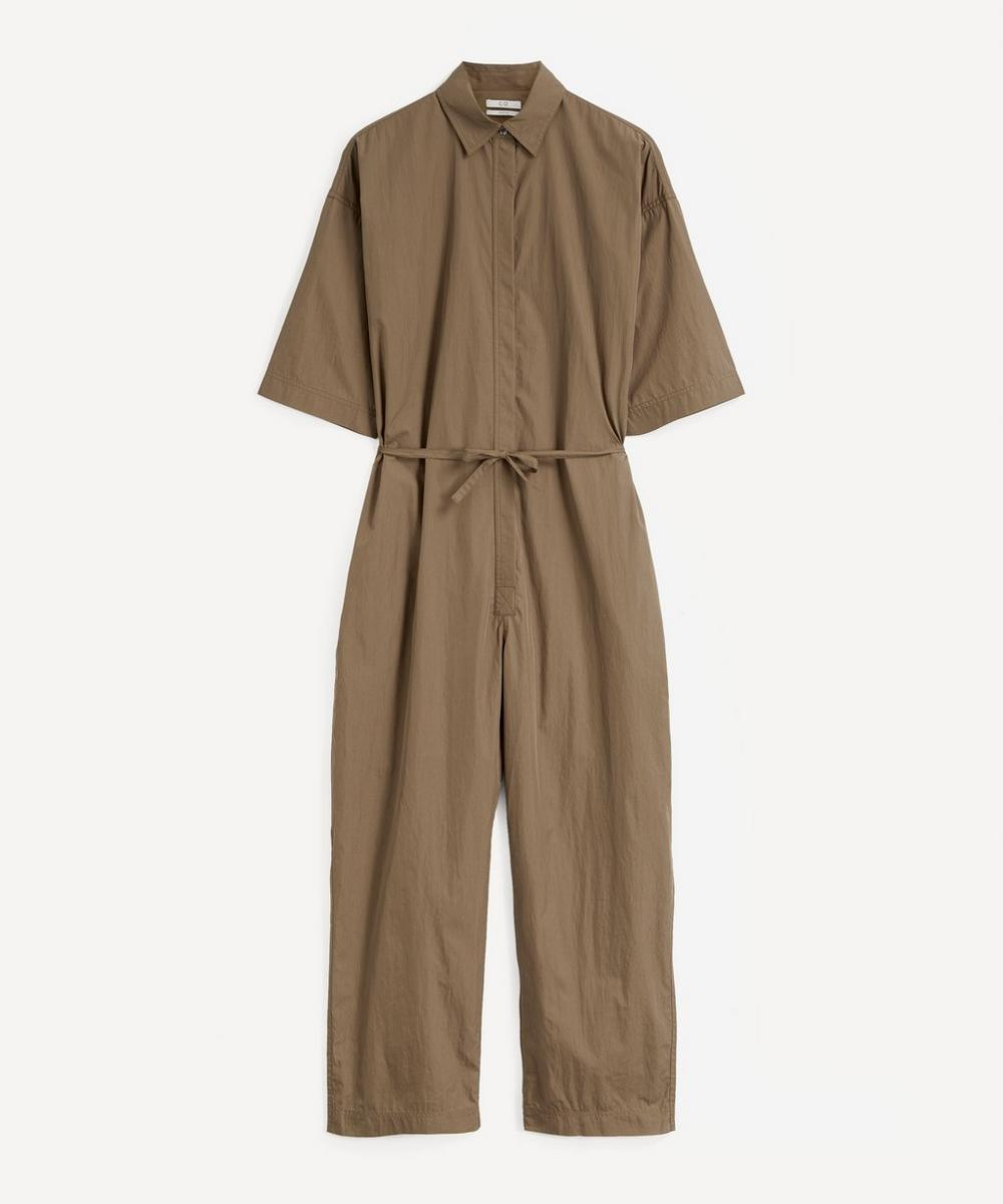 CO - Collared Drawstring Jumpsuit