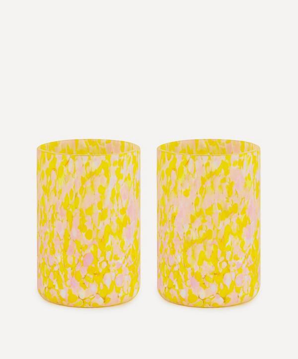 Stories of Italy - Macchia su Macchia Murano Glass Tumblers Set of Two