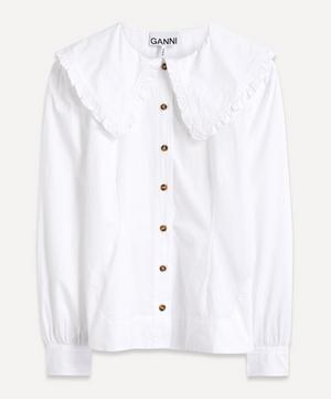 Big Collar Fitted Cotton Shirt