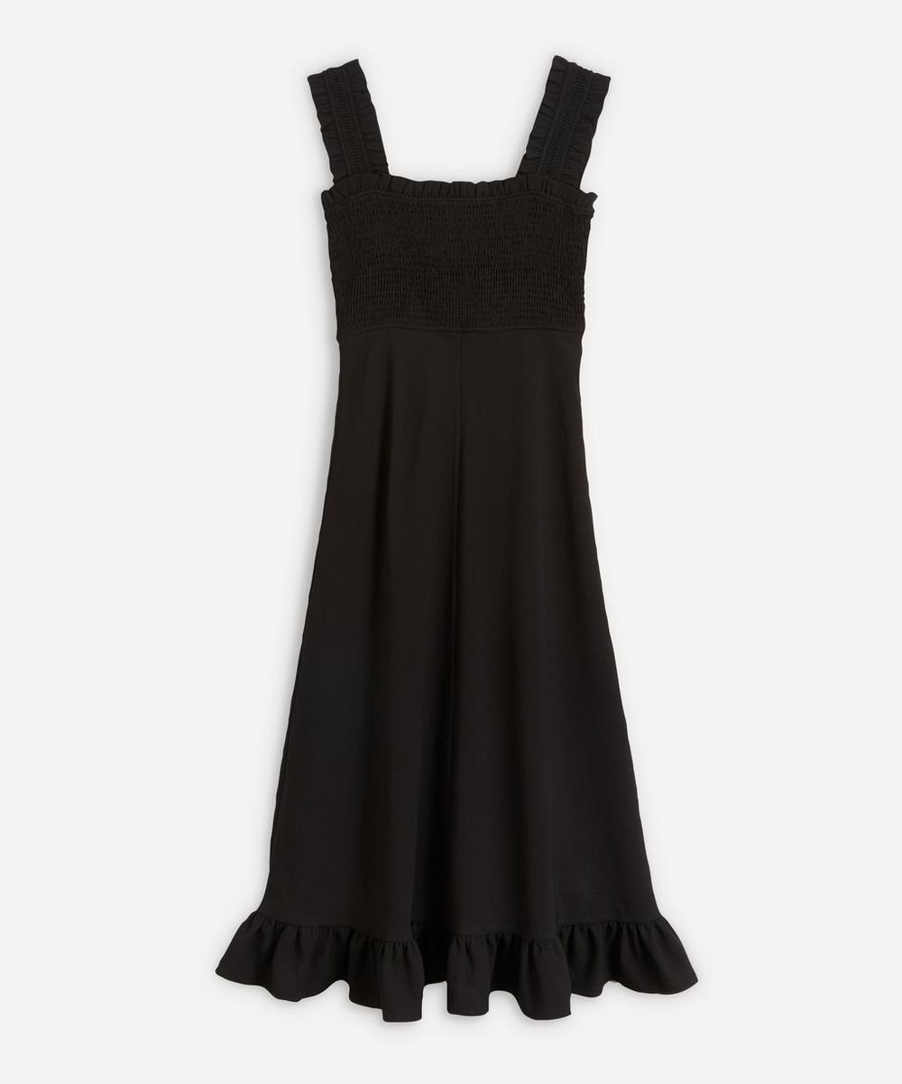 Ganni - Ruche Bodice Crepe Dress