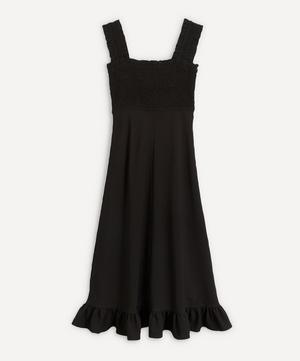 Ruche Bodice Crepe Dress