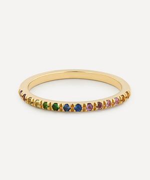 Gold Rainbow Multi-Stone Ring