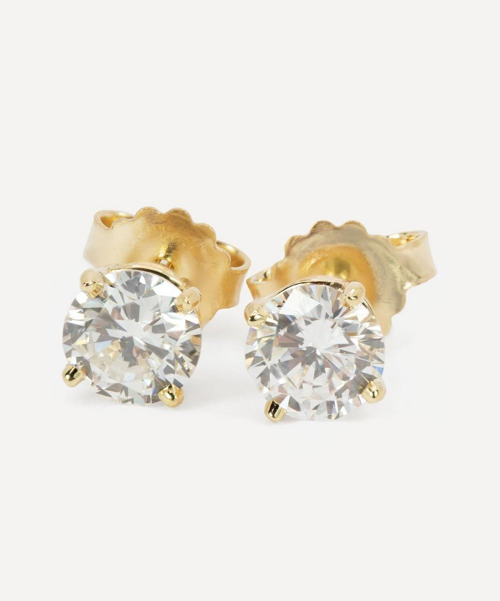 Kojis - Gold 1.03ct Diamond Stud Earrings