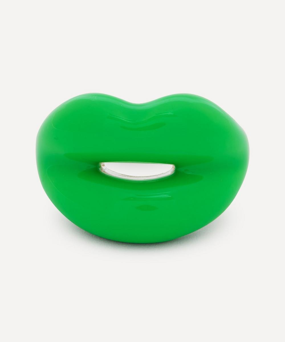Solange Azagury-Partridge - Neon Green Hotlips Ring