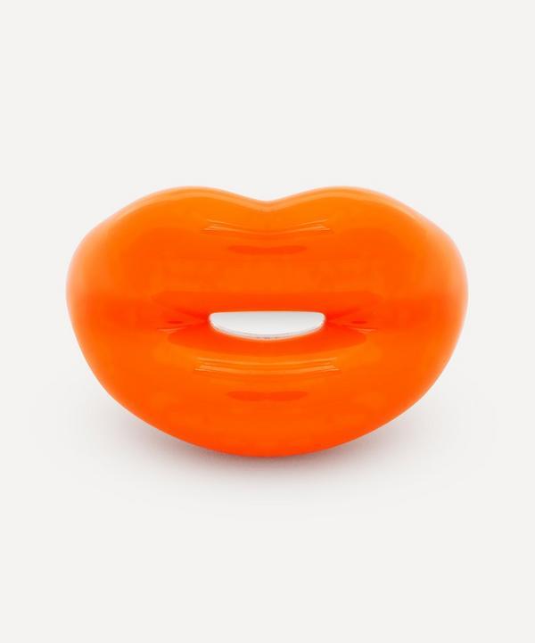 Solange Azagury-Partridge - Neon Orange Hotlips Ring