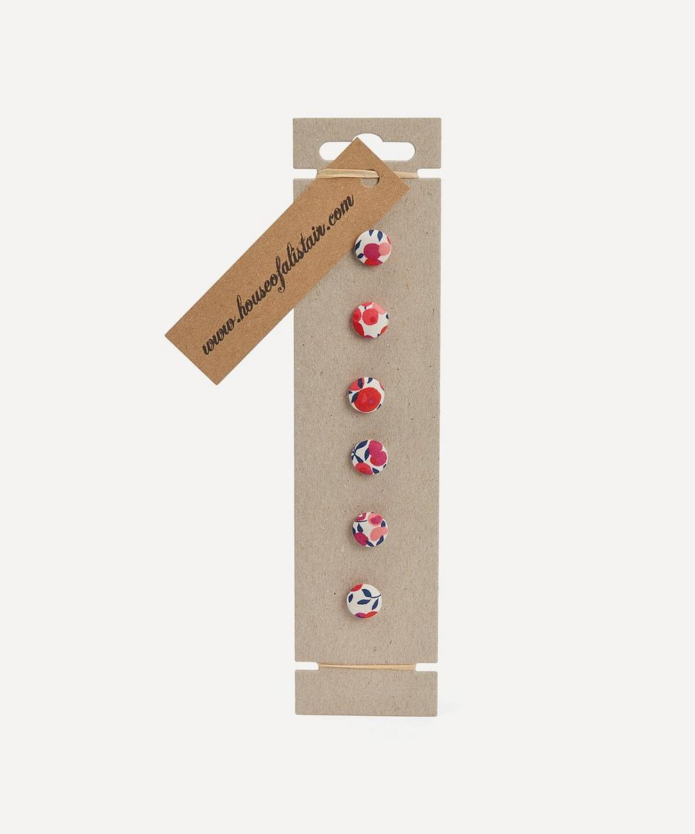 Liberty London - Six Floral Print Buttons on Card