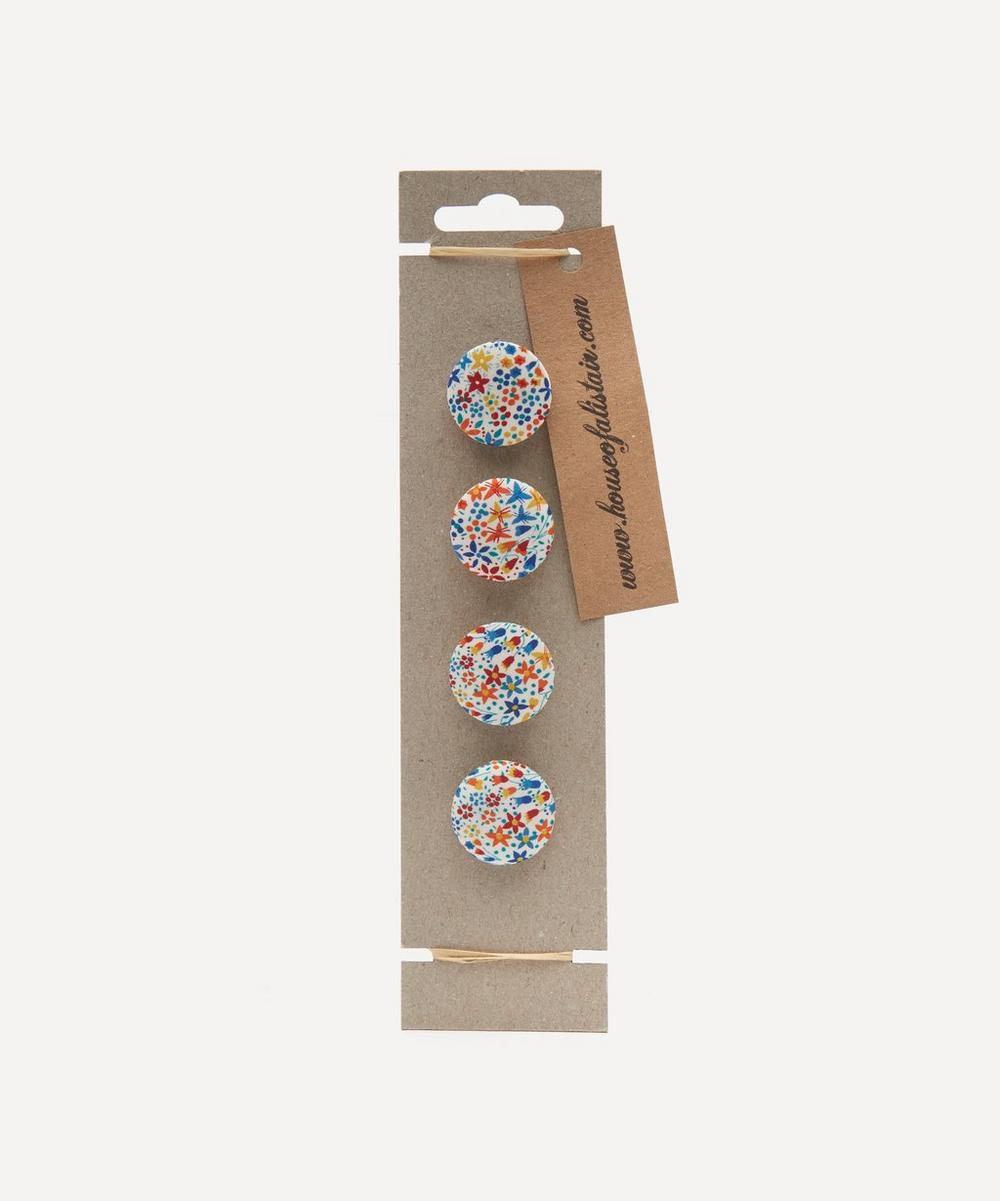 Liberty - Assorted Floral Fabric Buttons