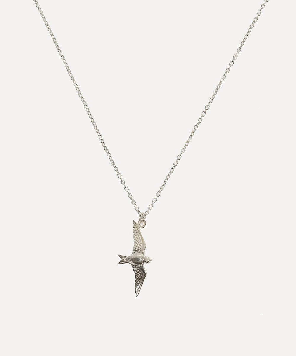 Alex Monroe - Silver Flying Swallow Pendant Necklace