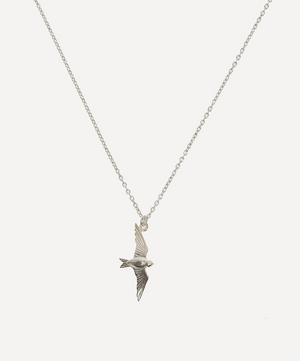 Silver Flying Swallow Pendant Necklace