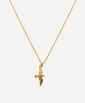 Gold-Plated Flying Swallow Pendant Necklace