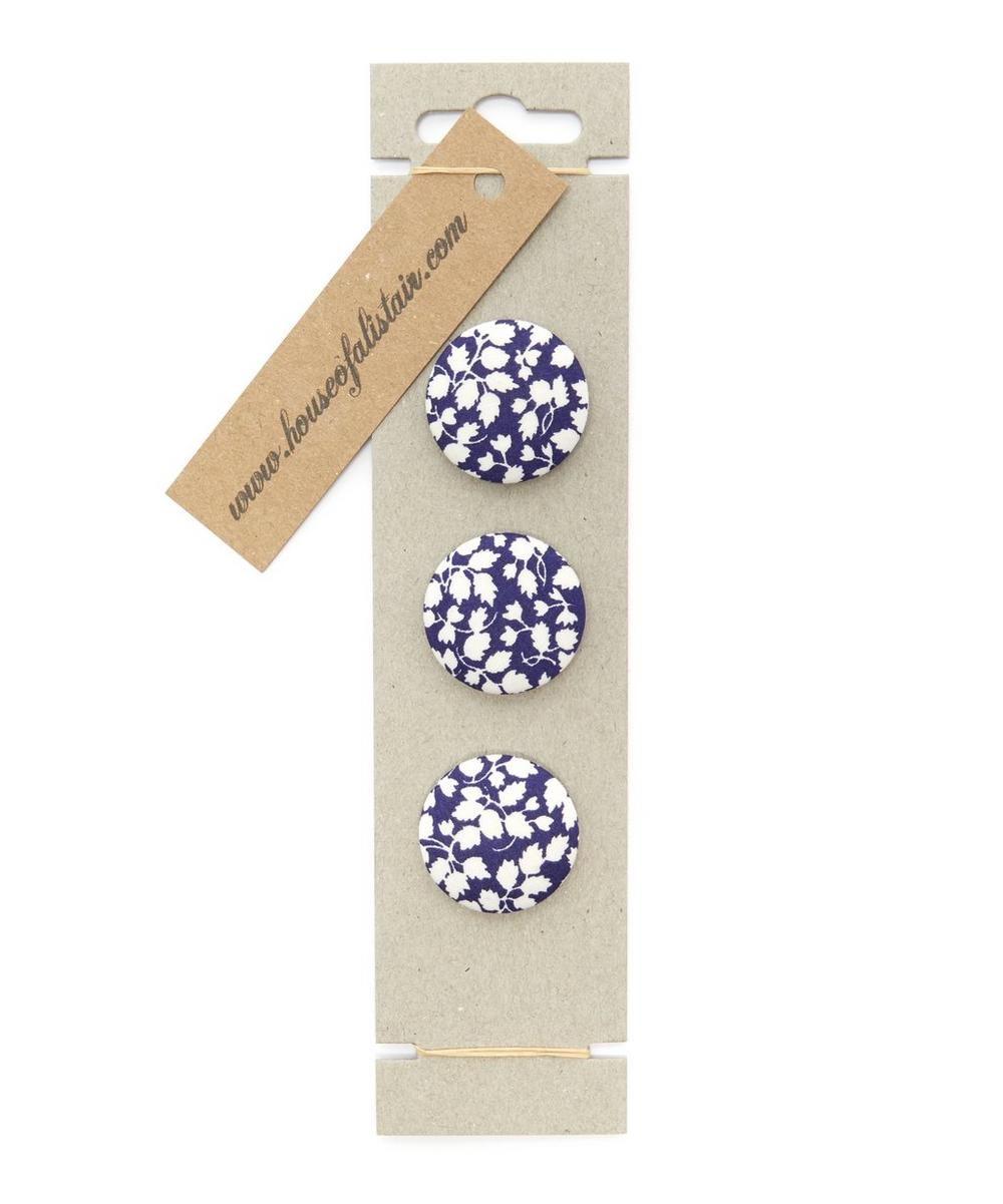 Liberty London - Three Berry Fabric Buttons on Card