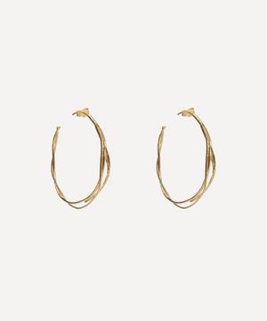 Gold-Plated Fine Twist Hoop Earrings