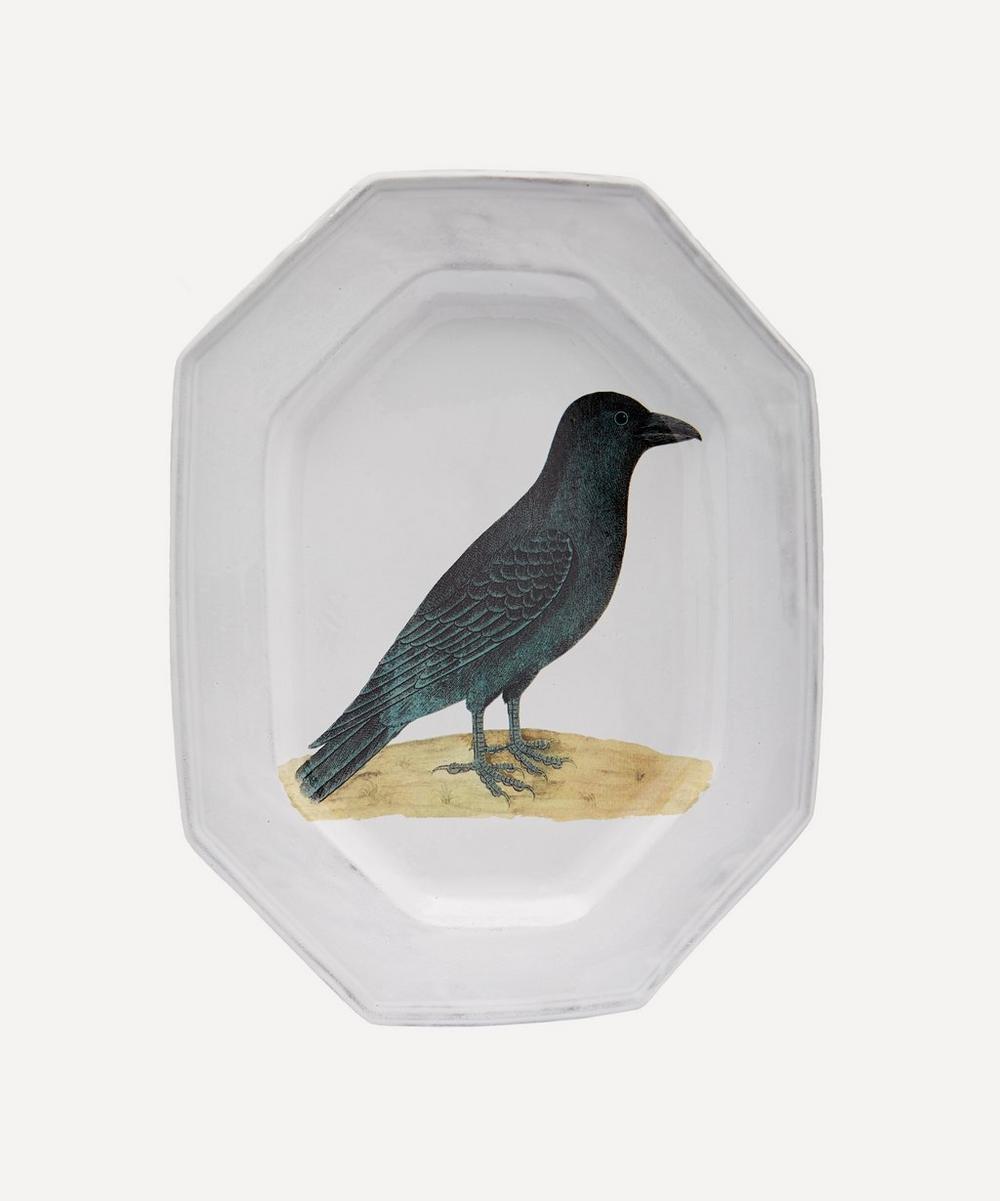 Astier de Villatte - Oval Octagonal Raven Platter