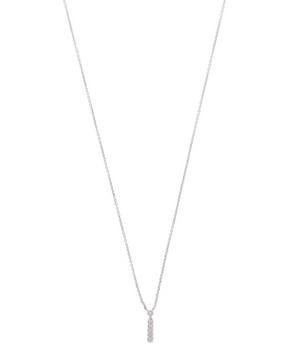 White Gold Diamond Letter I Necklace