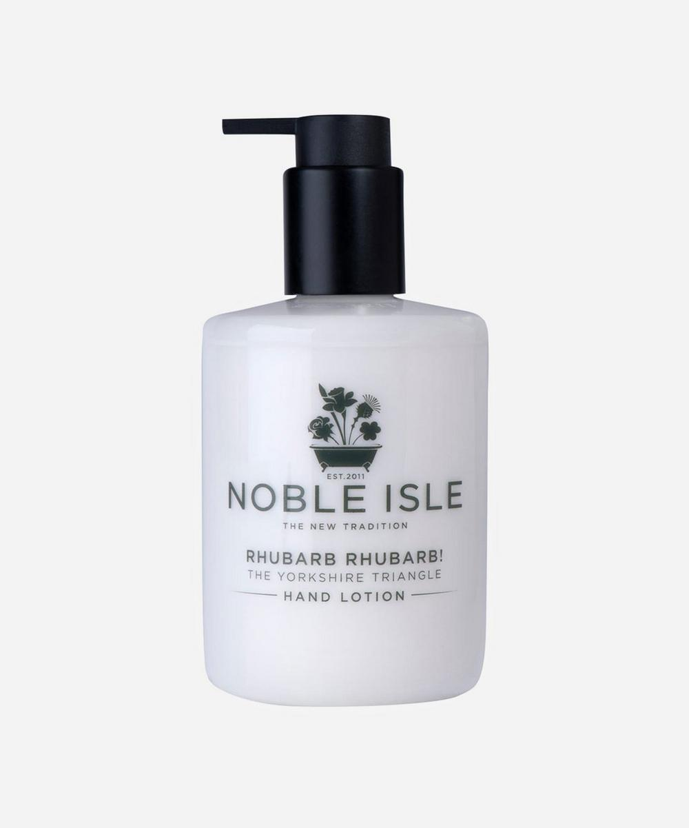 Noble Isle - Rhubarb Rhubarb! The Yorkshire Triangle Hand Lotion 250ml