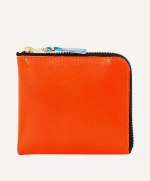 Green Contrast Fluorescent Half-zip Wallet