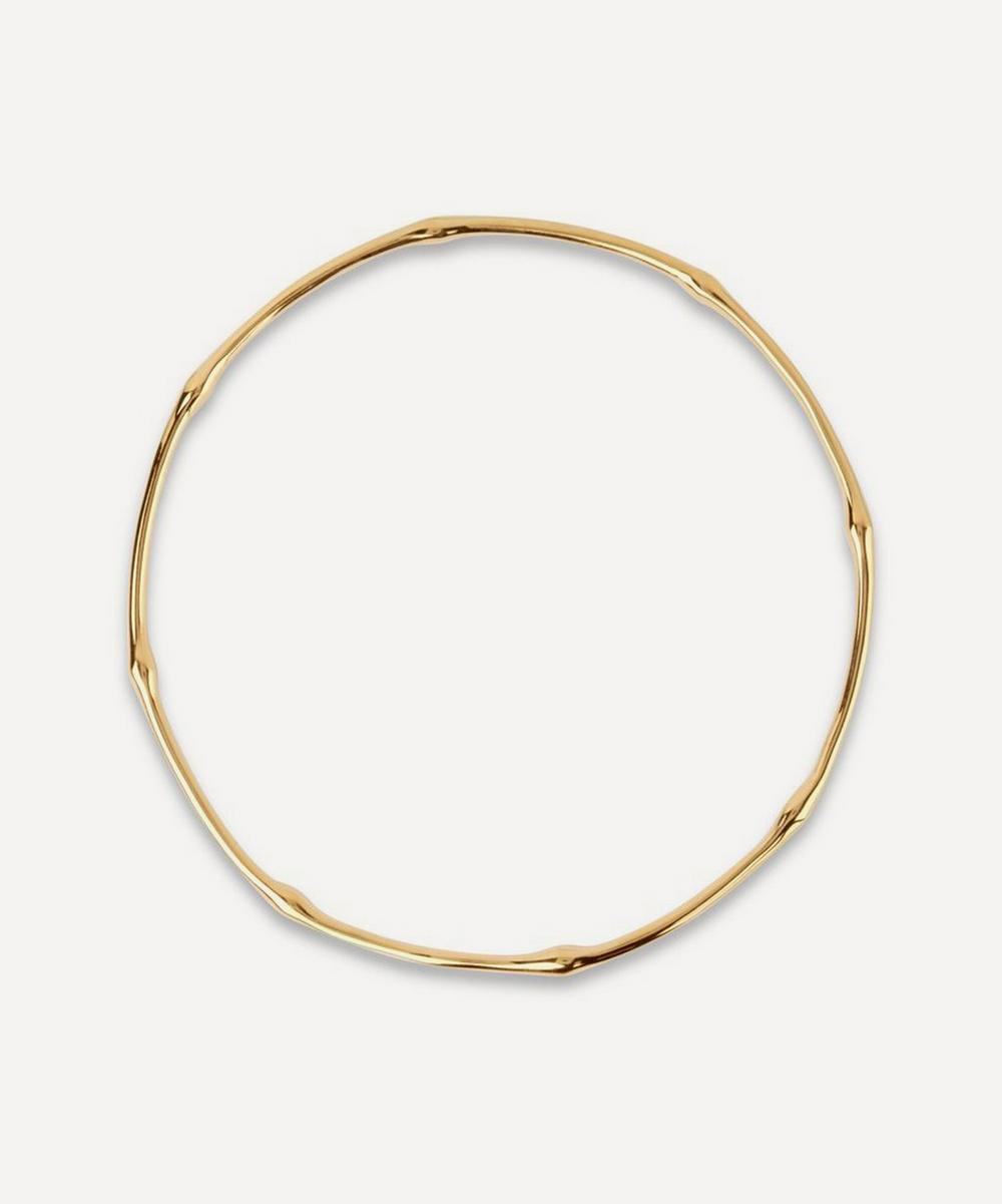 Dinny Hall - Gold Plated Vermeil Silver Bamboo Bangle