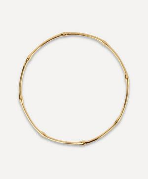 Gold Plated Vermeil Silver Bamboo Bangle