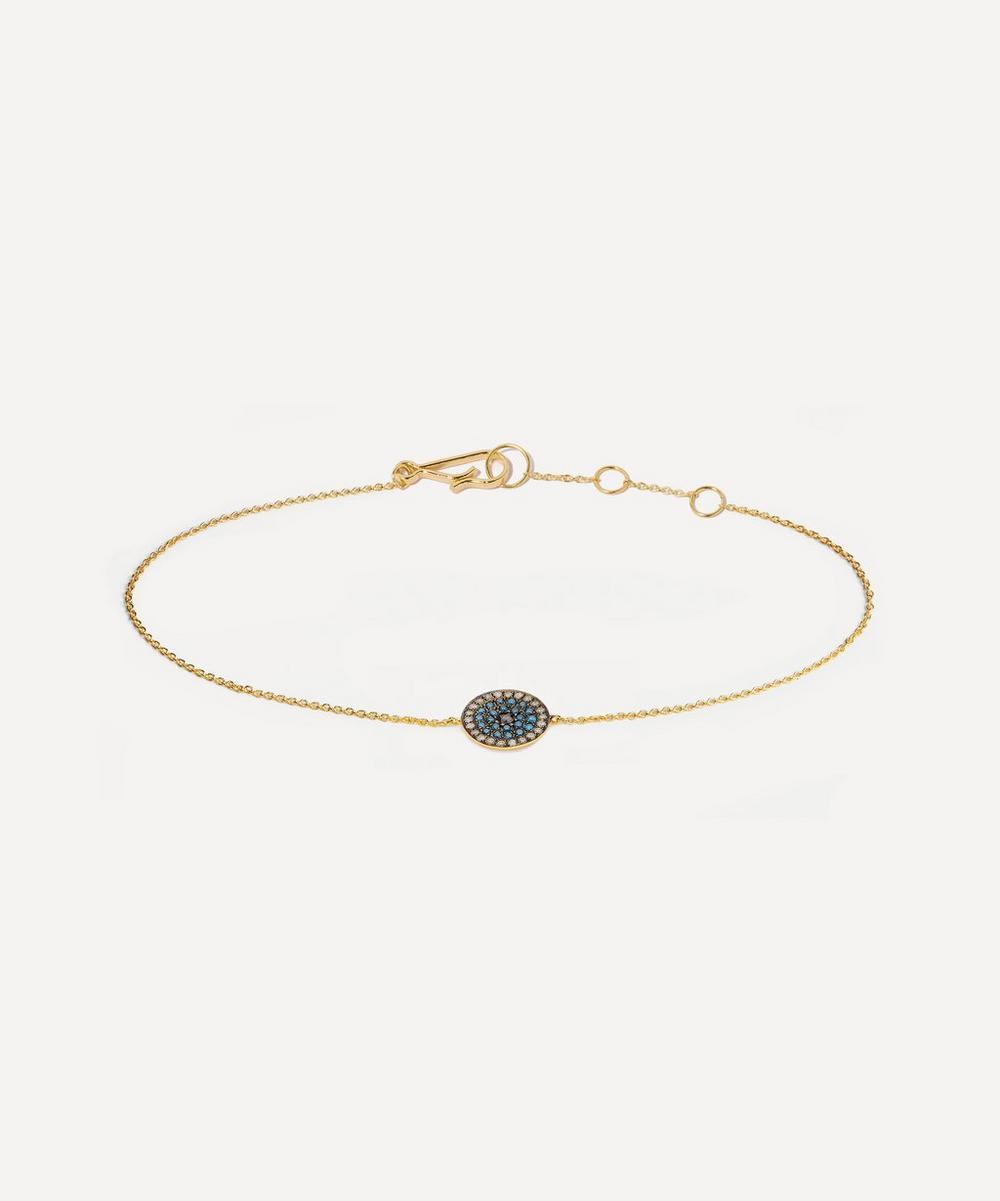 Annoushka - 18ct Gold Love Diamonds Evil Eye Bracelet